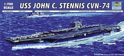 - Trumpeter USS John C Stennis CVN74 Aircraft Carrier (1/700 Scale) by Trumpeter