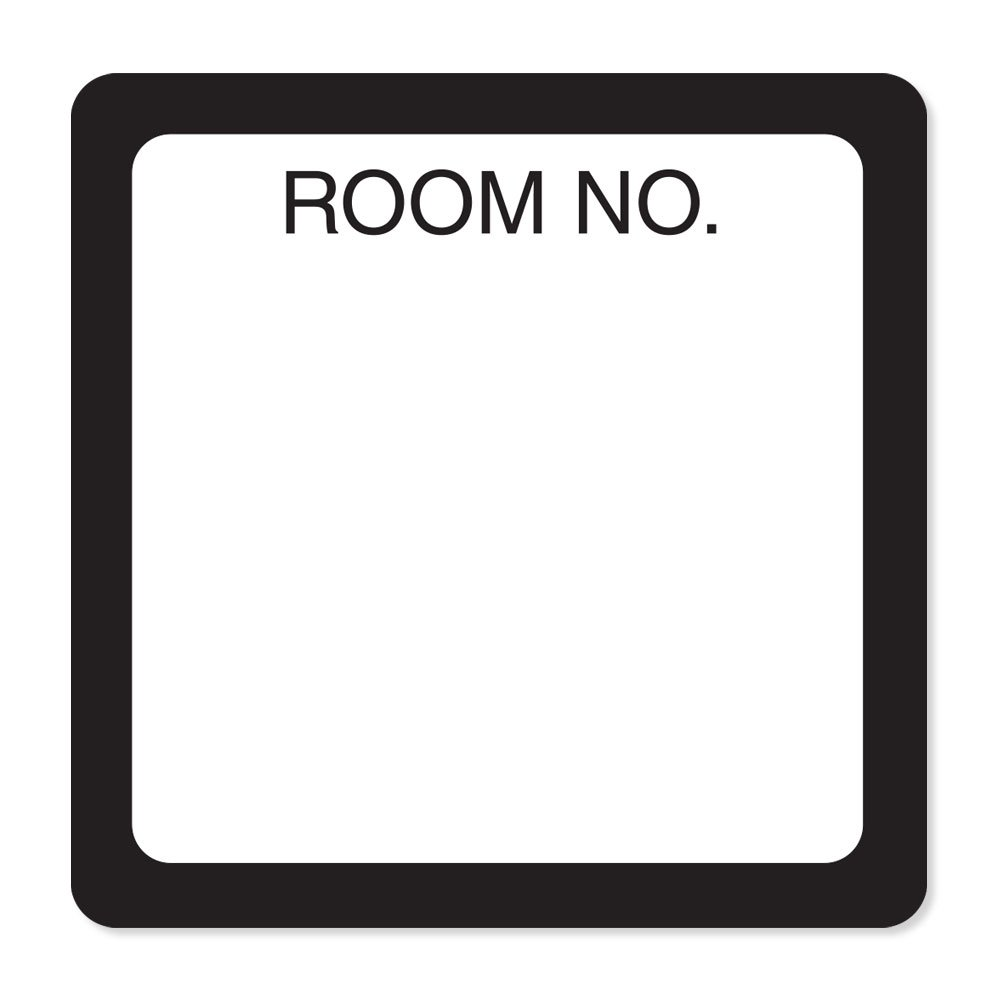 PDC Healthcare NPWHR01 Paper Label, Removable Room Number, 1 1/2'' x 1 1/2'', White (Pack of 1000)