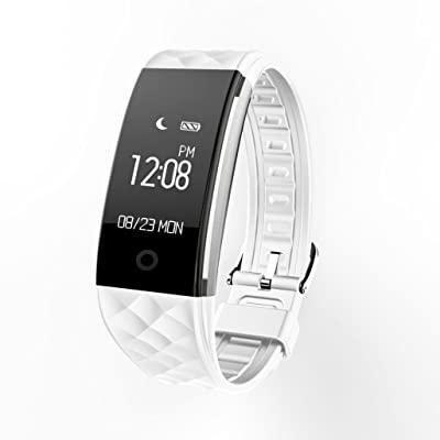 Cooljun Mode S2 Bluetooth 4.0 Smart Bracelet Band moniteur de fréquence cardiaque Sport LED montre intelligente