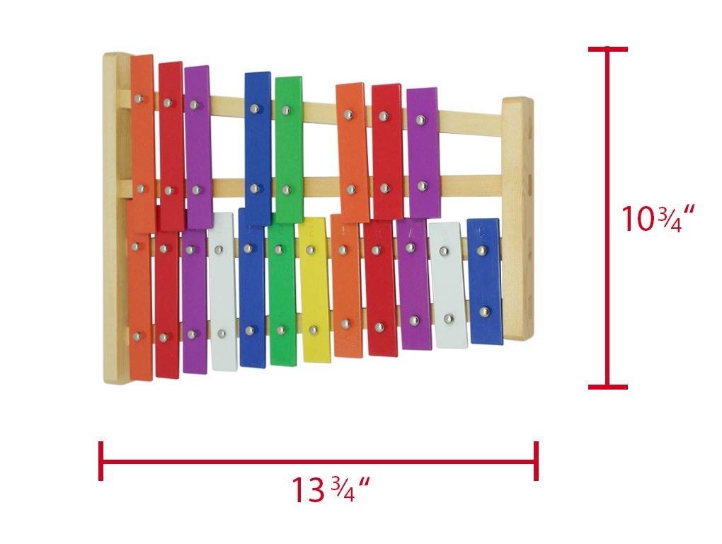 D'Luca TL25D 20 Notes Full Chromatic Xylophone Glockenspiel with Music Cards by D'Luca (Image #3)
