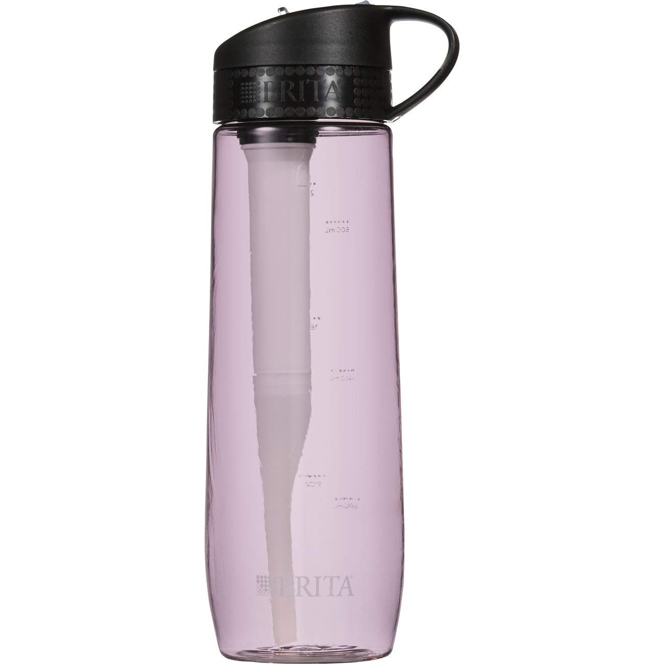 Brita 23.7 Ounce Hard Sided Water Bottle with Filter  BPA Free  Pink (2Pack)