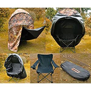 Amazon.com : Camping Pop up Deer Ground Hunting Chair Blind Camouflage : Sports & Outdoors