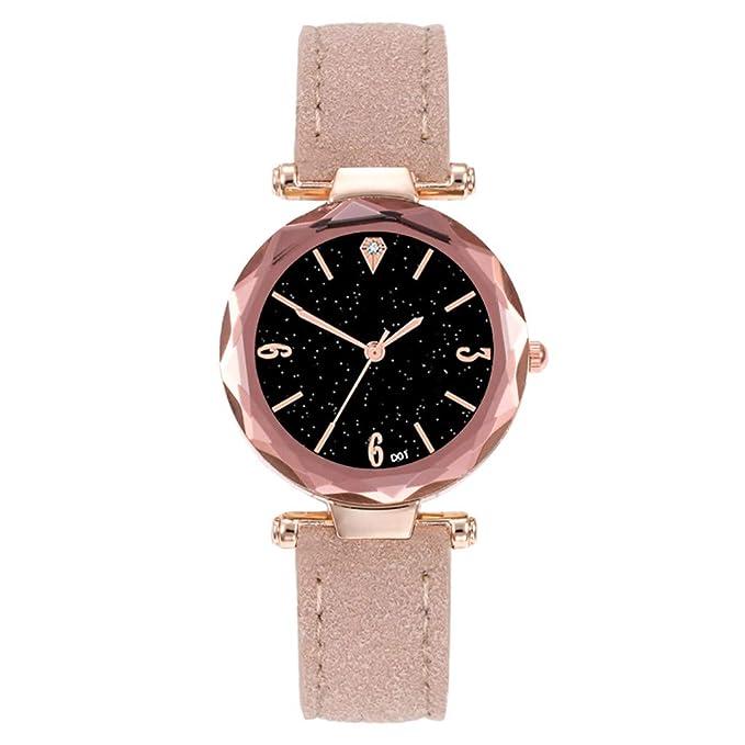 BBestseller Relojes de Pulsera para Mujeres,Moda Accesorios Watches Pulsera Actividad Relojes Mujer Deportivos (Beige): Amazon.es: Relojes