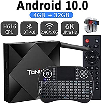 Android TV Box 9.0 con Air Mouse RK3318 5.8G 2.4G Dual Band WiFi 4GB