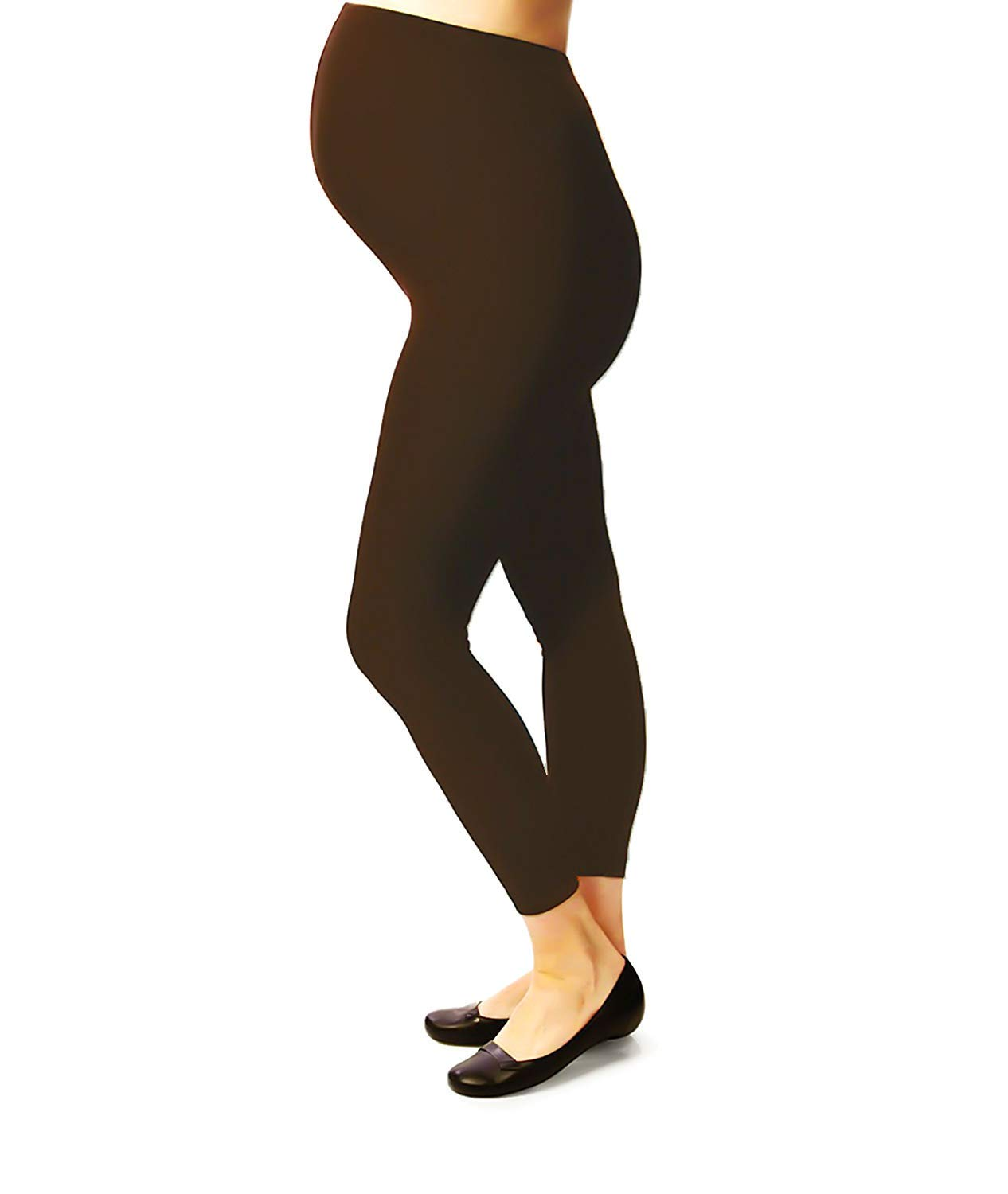 Terramed Maternity Leggings Compression Stockings Women 20-30 mmHg - Graduated Compression Stockings Women Pregnancy | Microfiber Footless Maternity Compression Leggings Over The Belly