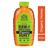 Nature Nate's 100% Pure Raw & Unfiltered Organic Honey; 32-oz. Squeeze Bottle; Made by Brazilian Bees; Enjoy Honey's Balanced Flavor and Wholesome Benefits, Just as Nature Intended