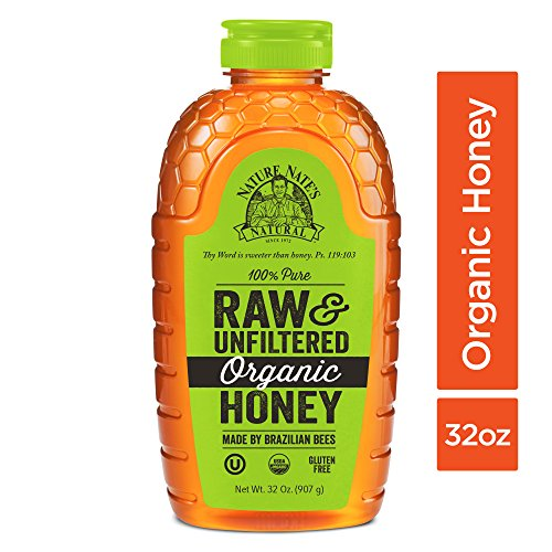 Nature Nate's 100% Pure Raw & Unfiltered Organic Honey; 32-oz. Squeeze Bottle; Made by Brazilian Bees; Enjoy Honey's Balanced Flavor and Wholesome Benefits, Just as Nature (100% Pure Organic Honey)