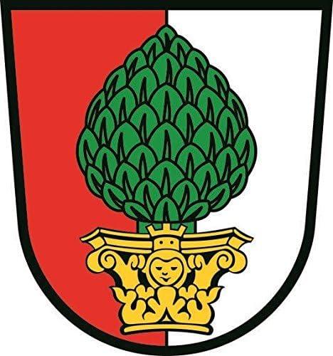 U24 Aufkleber Augsburg Wappen Autoaufkleber Sticker Konturschnitt Auto