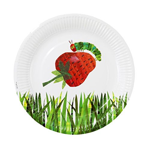 World of Eric Carle, The Very Hungry Caterpillar Party Supplies, Paper Plates, 12 Count