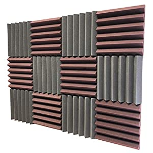 Flashandfocus.com 51txFkepUJL._SS300_ Soundproof Store 4492 Acoustic Wedge Soundproofing Studio Foam Tiles, 2 X 12 X 12-Inch, Pack of 12 (Charcoal Black and…