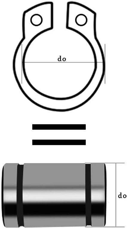 Circlips en E Acier Inoxydable E-Clip Anneau de Retenue 8mm,100 pcs BOZONLI Circlips Interieur