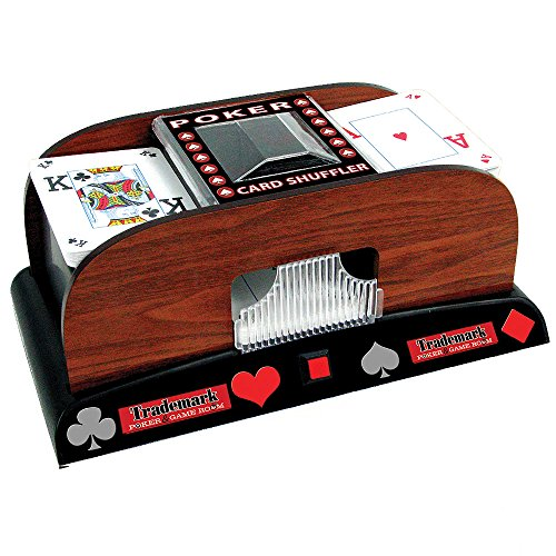 Deluxe Wooden 1 or 2 Deck Automatic Card Shuffler - Includes Bonus Deck of Cards! by TMG