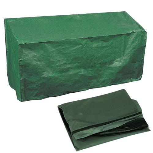 BAKAJI Telo di Copertura Custodia per Cuscini da Esterno Protezione Storage Impermeabile Cuscineria Sedie Lettino Dondolo da Giardino Terrazzo Dimensione 120x50x25cm Colore Verde o Grigio