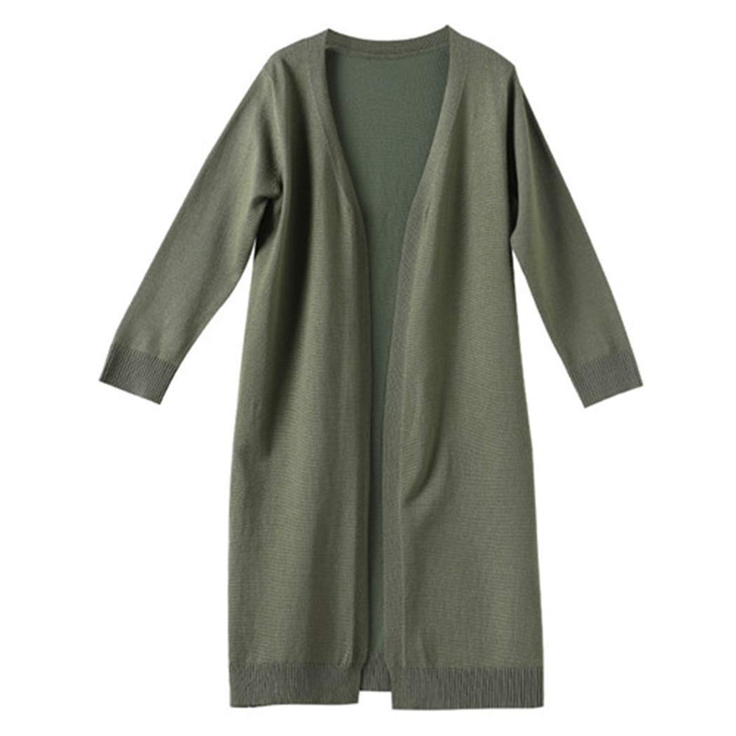 Santans Girls Casual Knitted Long Sweater Children Fashion Fall Outwear Army Green 16 by Santans