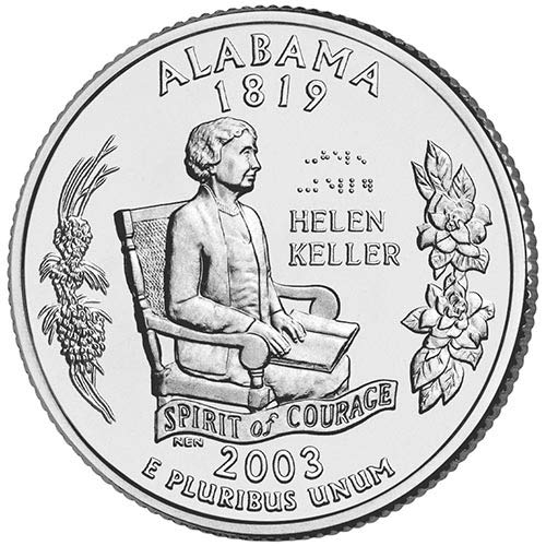 2003 S Silver Proof Alabama State Quarter Choice Uncirculated US Mint