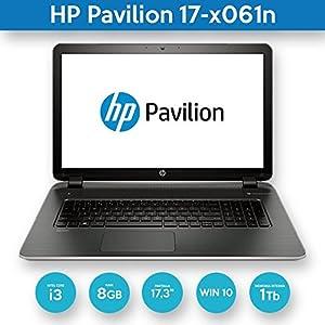 "HP Pavilion 17.3"" Flagship Laptop computer, HD+ WLED Screen, Intel Core i3-5005U 2GHz, Intel HD Graphics, 8GB DDR4, 1TB HDD, DVD RE, 802.11, Bluetooth, HDMI, Webcam, Windows 10 (Certified Refurbished)"