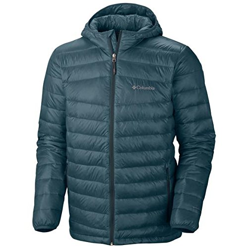 Ripstop Hooded Down Jacket (Columbia Platinum 860 TurboDown Omni-Heat Hooded Down Jacket -)