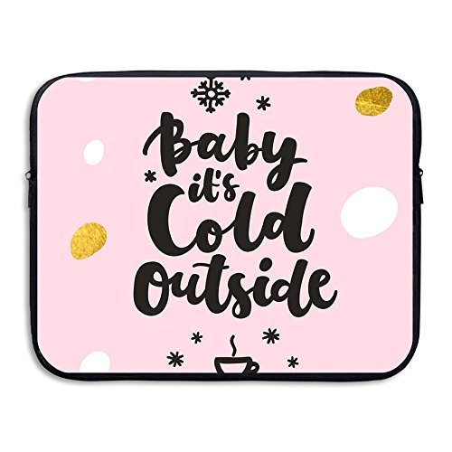 (Custom Laptop Sleeve 13/15 Inch Ultrabook Zipper Briefcase Baby It's Cold Outside Print Portable Messenger Bag)