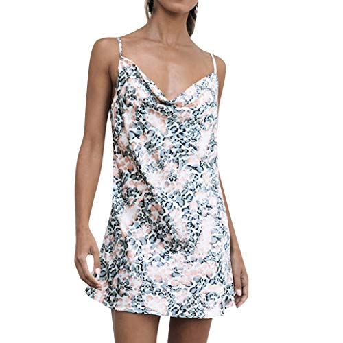 Women Summer Holiday Dress, Qingell Women's Printing Party Pencil Midi Dress Bandage Dress Beach Swing Dress White