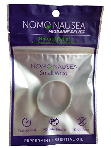 NoMo Migraine Band. Migraine Headache Relief. Small Size Purple Adults (wrist 3.5-6.2). Relief for migraine nausea with Peppermint Aromatherapy and Acupressure. MIGRAINE RELIEF HEADACHE RELIEF