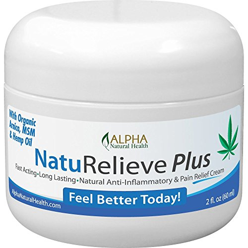 (Organic Hemp Oil, Arnica and MSM Pain Relief Cream, Topical Analgesic Reliever)