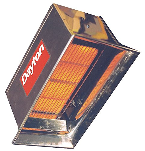 DAYTON 3E132 Commercial Infrared Heater, NG, 30, 000 (Commercial Heater Infrared)