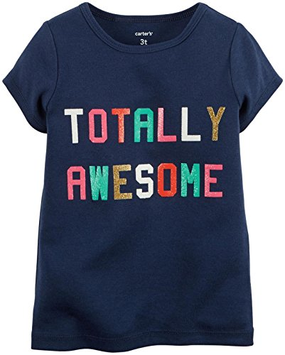 Slogan Baby T-shirt - Carter's Baby Girls' Slogan Tee (Baby) - Totally Awesome - 24M