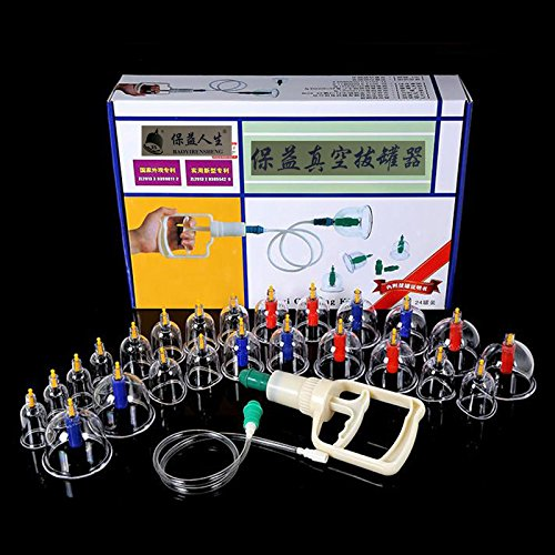 24 Cups Vacuum Magnetic Cupping Sets Home Care Medical Thickened Apparatus Traditional Chinese Medicine Medical Suction Therapy