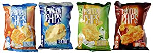 Quest Nutrition Protein Chips, Variety Pack Including BBQ, Sea Salt, Cheddar & Sour Cream, & Sour Cream & Onion, Pack of 8, 2 Bags of Each