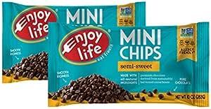 Enjoy Life Semi-sweet Chocolate Mini Chips, 10 Ounce, Pack of 2
