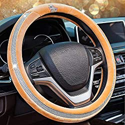 Universal Crystal Rhinestones Steering Wheel Cover