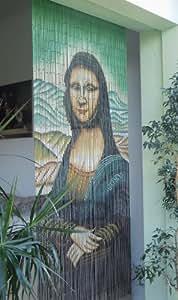 "Leguana - paraafo puerta de cortina bambu puerta paraafo ""mona lisa "" 90x200cm aprox"
