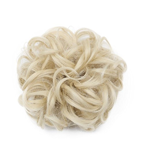 Karlery Short Curly Different Colors Bud Ball Wig Updo Chignon Bun Extensions Scrunchy Messy Hair Scrunchies Hair Pieces for Women (613#)