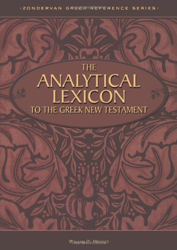 Analytical Lexicon To Greek New Test.