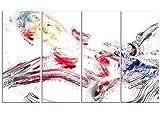 Designart Soccer Booting the Ball Metal Wall Art - MT2502 - 48x28 - 4 Panels