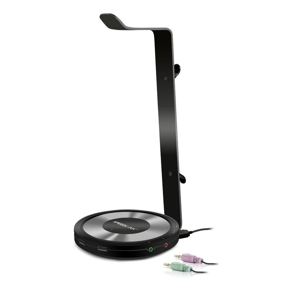 Auriculares, Auriculares, Interior, Soporte Activo para tel/éfono m/óvil, Negro, Aluminio, USB Speed-Link SPEEDLINK Estrado Interior Soporte