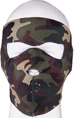 Adjustable Survival Neoprene Reversible To Black Full & Half Face Ski Mask