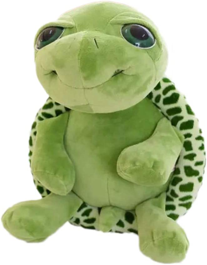Toyvian Peluche Tortuga Peluche Juguete Blando Kawaii Tortuga Verde Tortuga Juguete Animal de Peluche Suave 18cm
