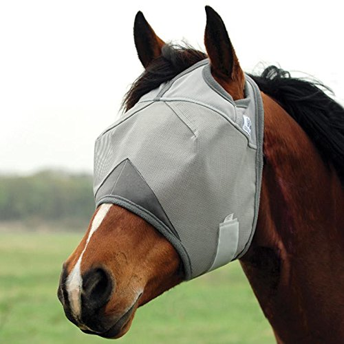 Cashel Crusader Standard Fly Mask No Ears or Nose,Gray,Horse