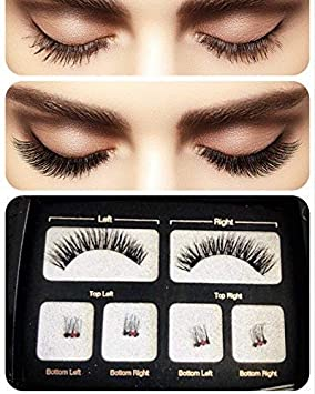 1c3aabe6f6a Magnetic Eyelashes, ASITA Reusable Magnetic False Eyelashes with [FREE  MIRROR] 3D False Eyelashes