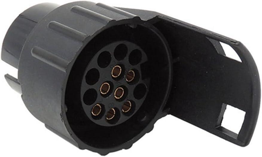 Convert 13 Pin to 7 Pin for Light 12V Adapter for Car Trailer Caravan Truck Towbar Socket Black SIRIGOGO Trailer Adapter 13 Pin to 7 Pin