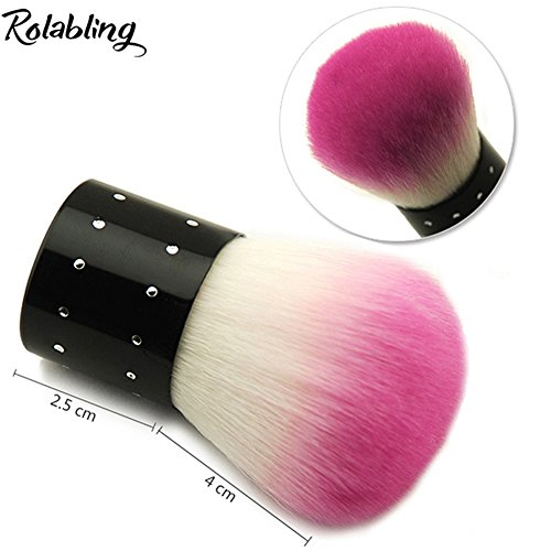 Rolabling Soft Nail Art Dust Remover Powder Brush Nail Dust Cleaner Brush Foundation Brush for Makeup and Nail Art