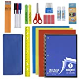 30 Piece School Supplies Kit for Elementary Kids - Back to School Essentials Bundle K-12 Supply Pack for Girls & Boys