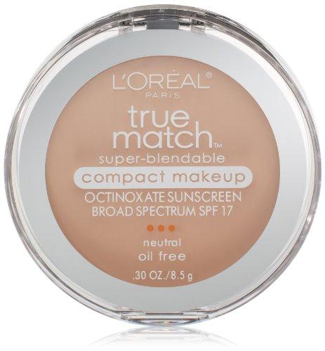 - L'Oreal Paris True Match Super-Blendable Compact Makeup, Classic Ivory, 0.3 oz.
