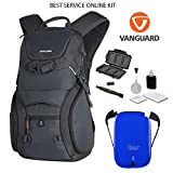 Vanguard ADAPTOR 48 Backpack + Halo 5500 Universal Charger + Cleaning Kit 4pc + Lens Pen Cleaning Brush + Memory Card Wallet