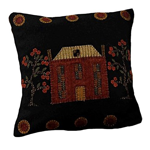 Home Collection by Raghu PLWT0040 Black Primitive Manor Pill