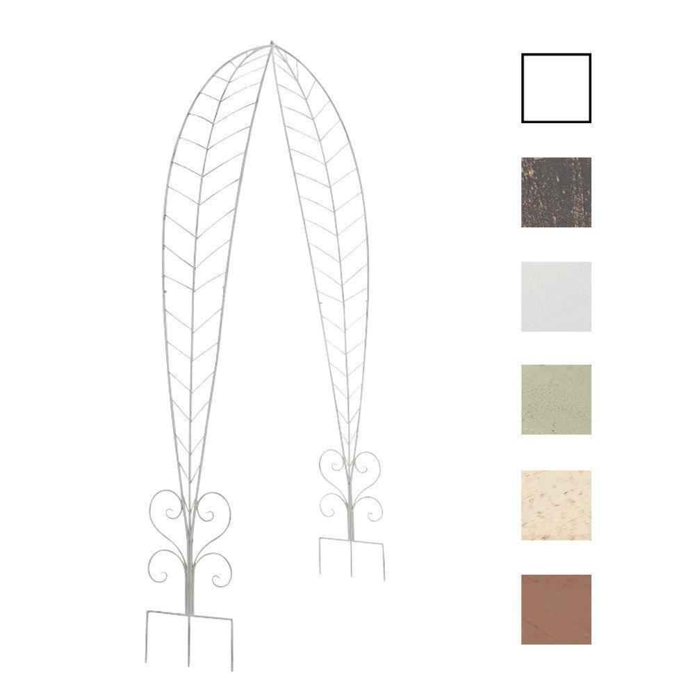 CLP Rosenbogen ELLEN, Metall, pulverbeschichtet, Höhe 245 cm, Größe 160 cm x 35 cm antik weiß