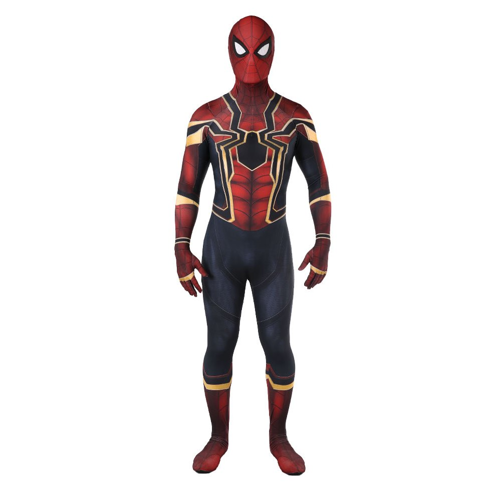 Unisex Lycra Spandex Zentai Halloween Cosplay Costumes Adult/Kids 3D Style (Kids-XL(Height 55-60 inch), Red)