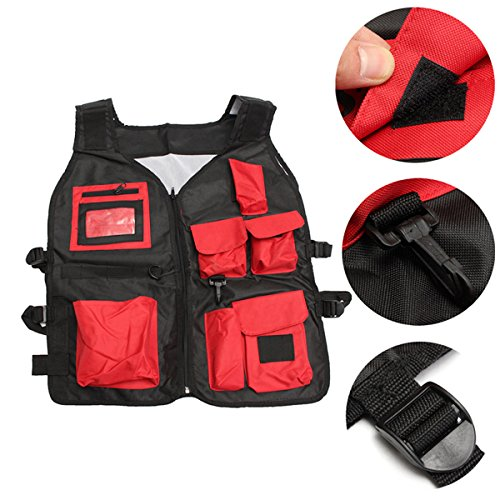Tool Organizers Electrician Carpenter Plumber Craftman Construction Pouch Bag Tool Vest by Yoton (Image #5)