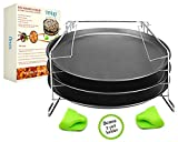 Tevelo 4 Piece Pizza in Pan Baking Set- Nonstick Pans - Bake 3 Pizzas At Once- Create Your Own Crispy & Tasty Pizzas-Carbon Steel Construction- Suitable For Almost Every Oven offers